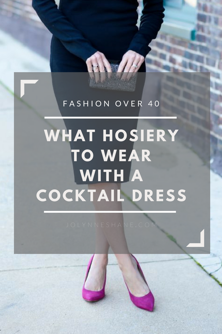 fb59ff738e4 What Hose to Wear with a Black Cocktail Dress