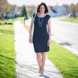 Petaled Side Shirred Dress $25