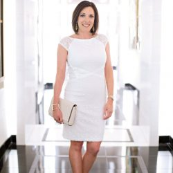 White Lace Sheath Dress #FashionFriday