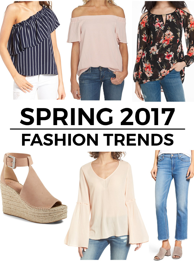 I've gathered the top spring 2017 fashion trends you will want to add to your wardrobe this season! Click through for shopping links.