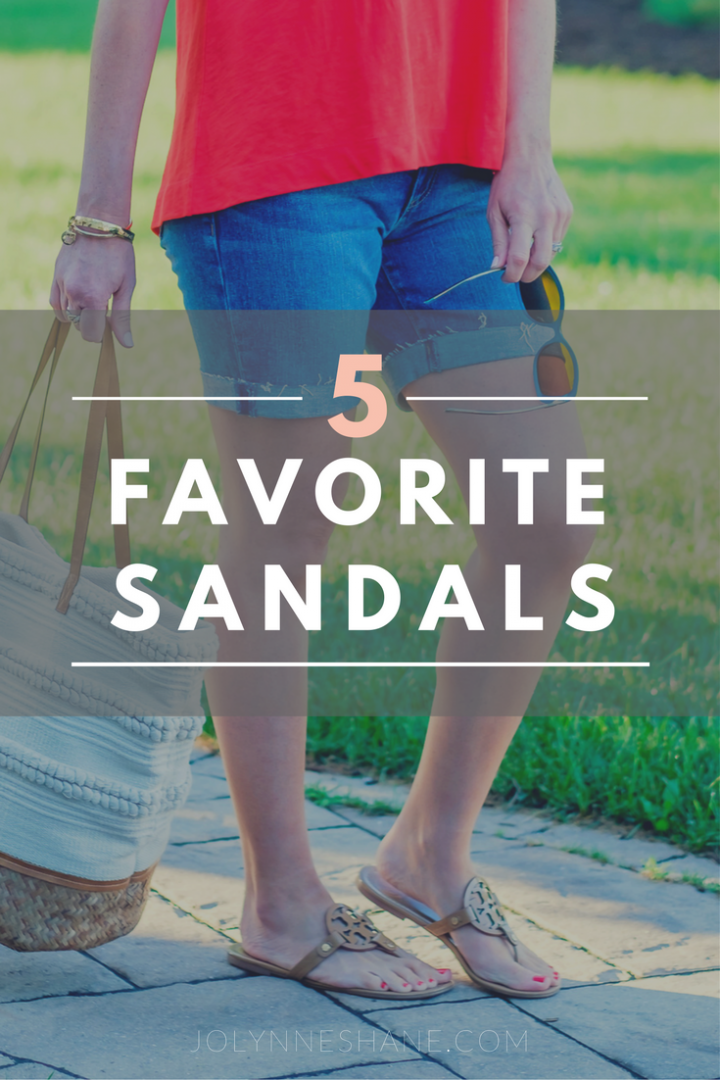 My 5 Favorite Summer Sandals: I highly recommend any of these if you're looking to add a pair to your closet.