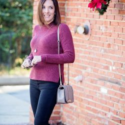 Casual Winter Outfit: Rolled Turtleneck + Suede Loafers