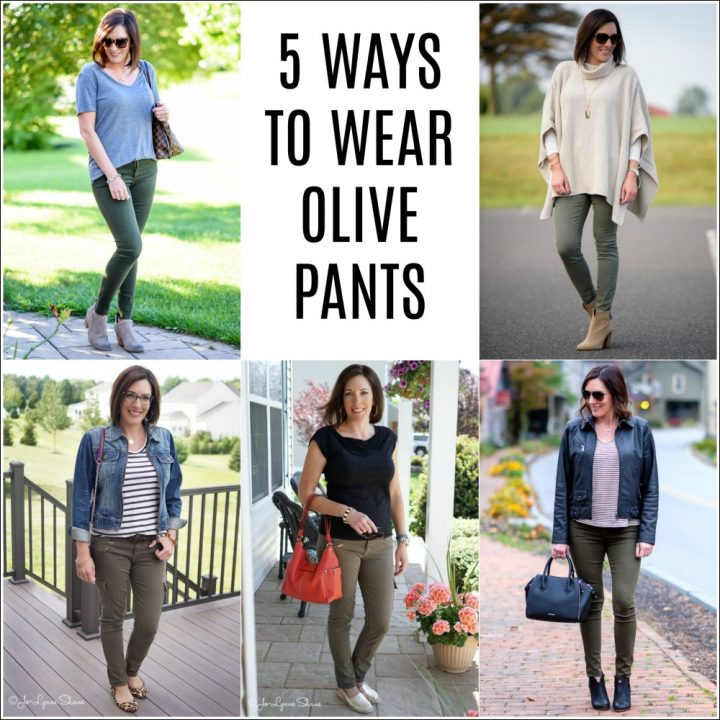 5 Ways to Wear Olive Pants This Spring