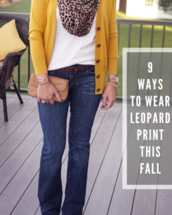 9 Ways to Wear Leopard Print This Fall