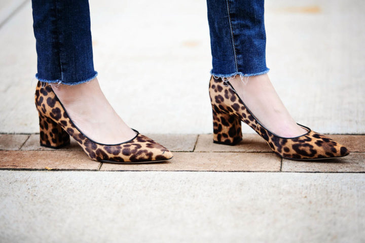 Marc Fisher Zalaly Leopard Print Calf Hair Pumps