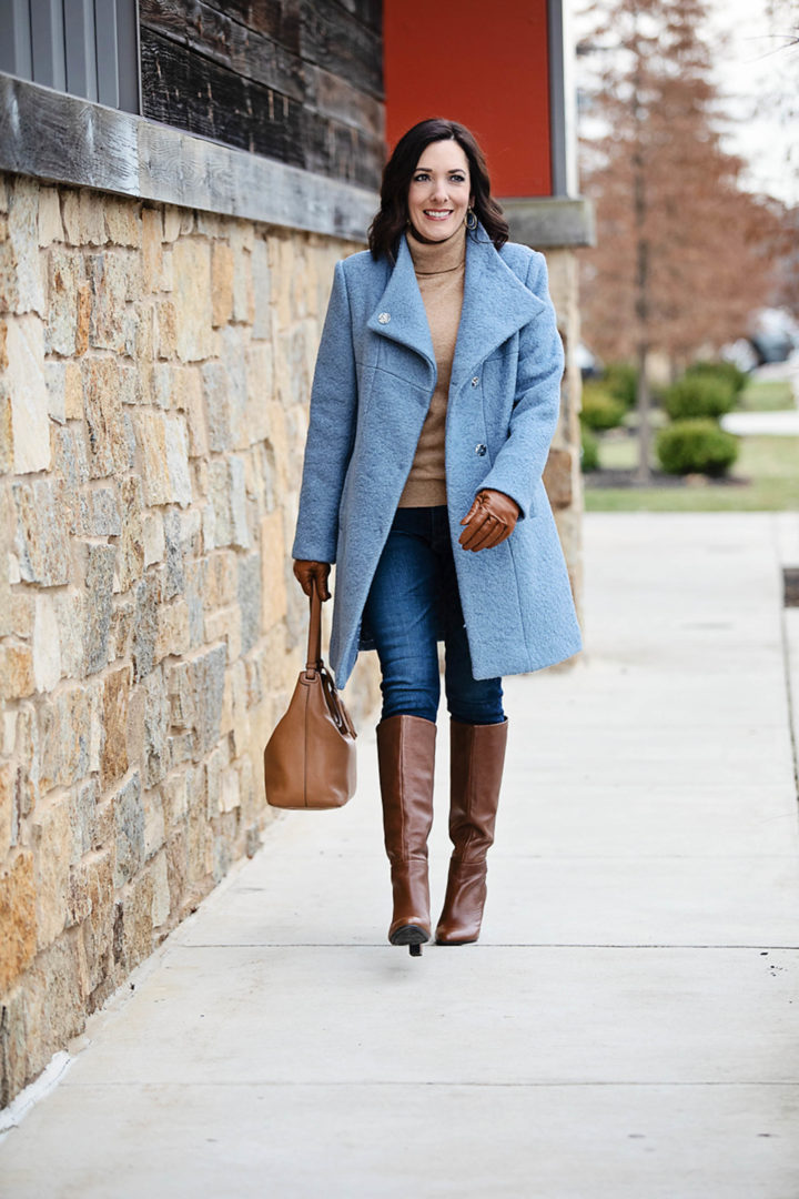 Update your winter outerwear wardrobe at the Lord & Taylor Friends & Family Sale: Save an extra 30% on Kenneth Cole REACTION Stand-Collar Boucle Coat, cashmere lined leather gloves, AG Farrah high rise ankle skinny jeans, Essential Cashmere Turtleneck Sweater, and Aerosoles Hashtag Tall Leather Boots #ad #lordandtaylor #womensfahion #winterstyle