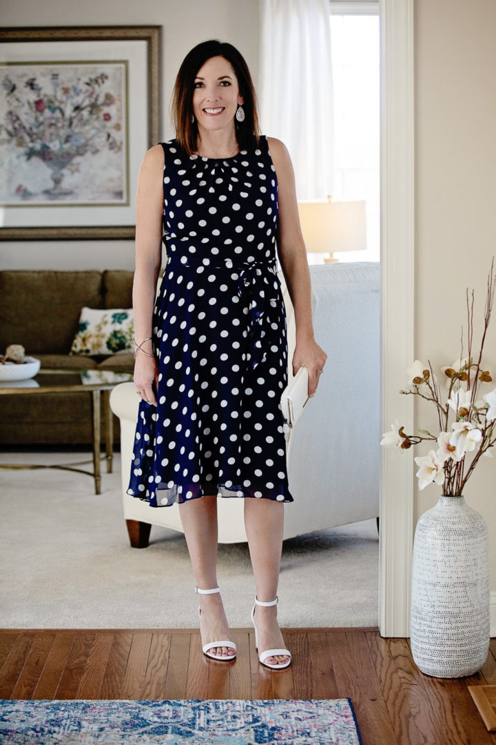 d942ccaa945f Spring Style with JCPenney  Jessica Howard Sleeveless Dots Fit   Flare Dress  with Worthington Beckwith
