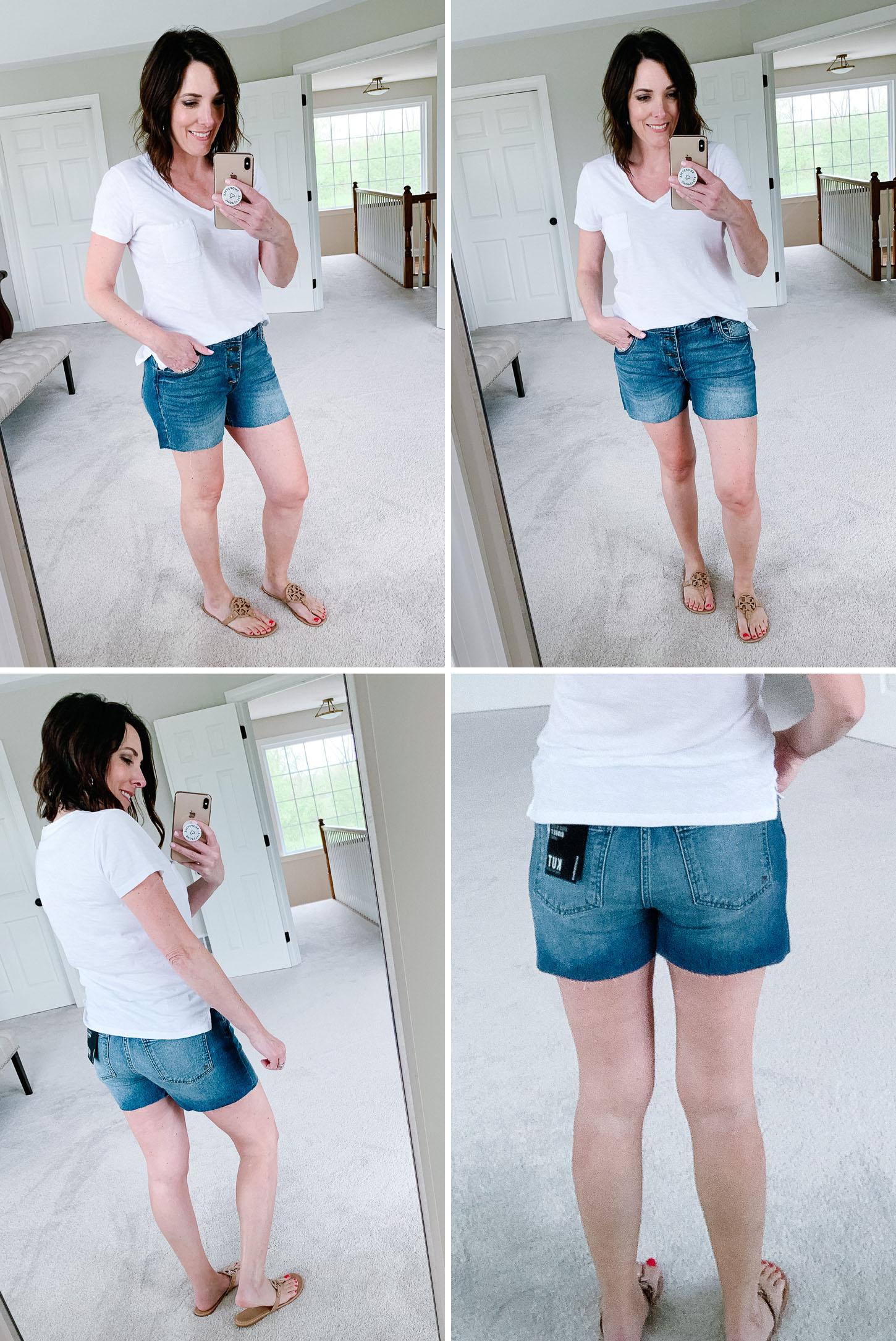 Summer Shorts Review: KUT from the Kloth Gidget High Waist Cutoff Shorts