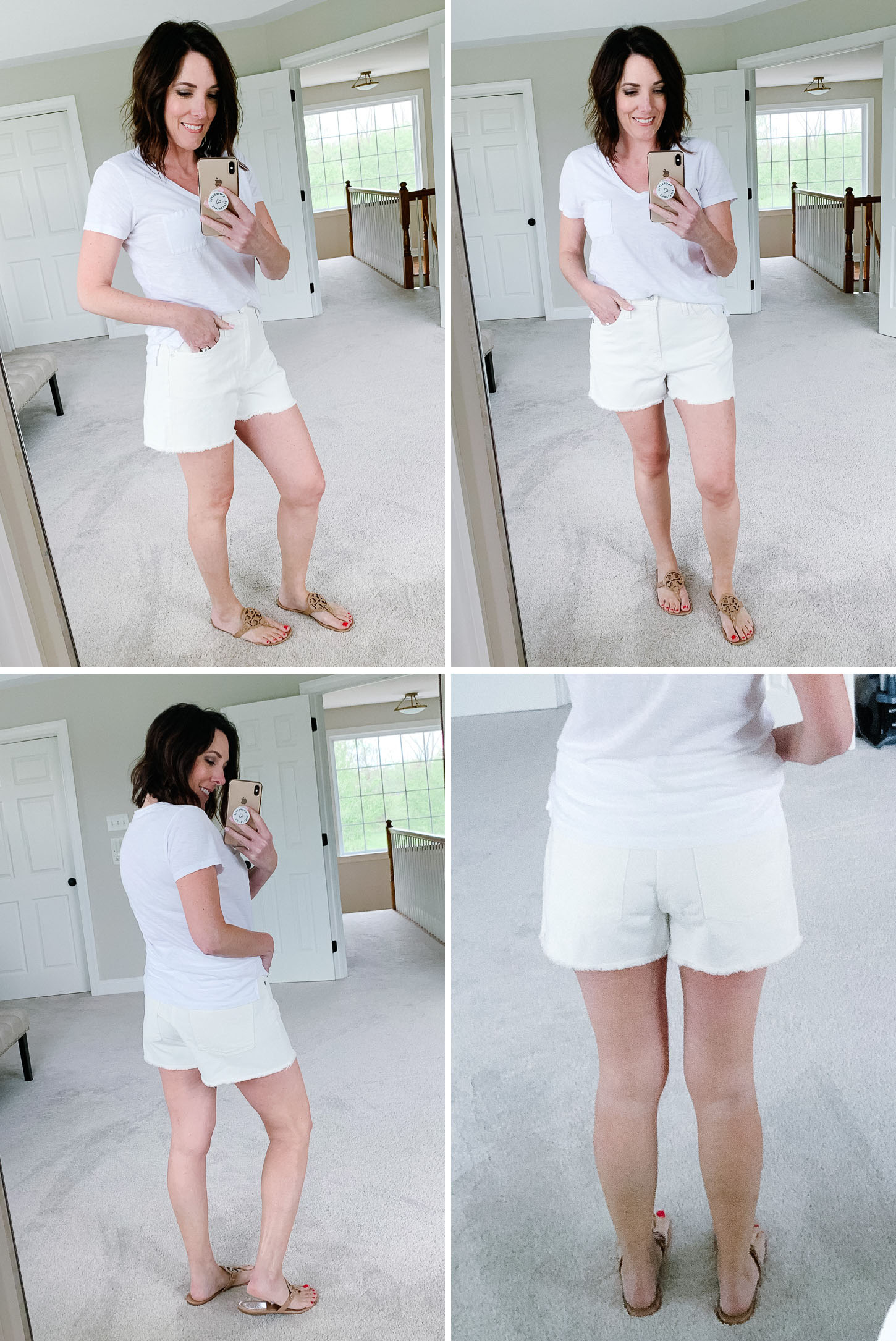 Summer Shorts Review: Madewell The Perfect Jean Short in Tile White