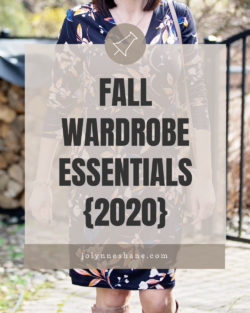 2018 Fall Wardrobe Essentials