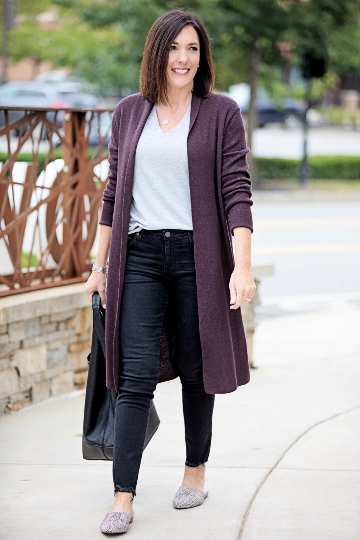 Jo-Lynne Shane shares two stylish ways to wear a long cardigan for Fall 2019