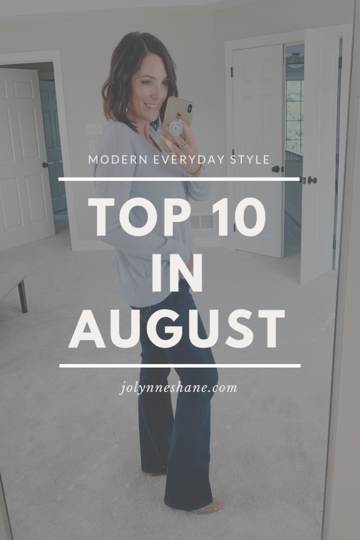 Top Ten In August {2019} :: My post popular posts and products during the month of August!