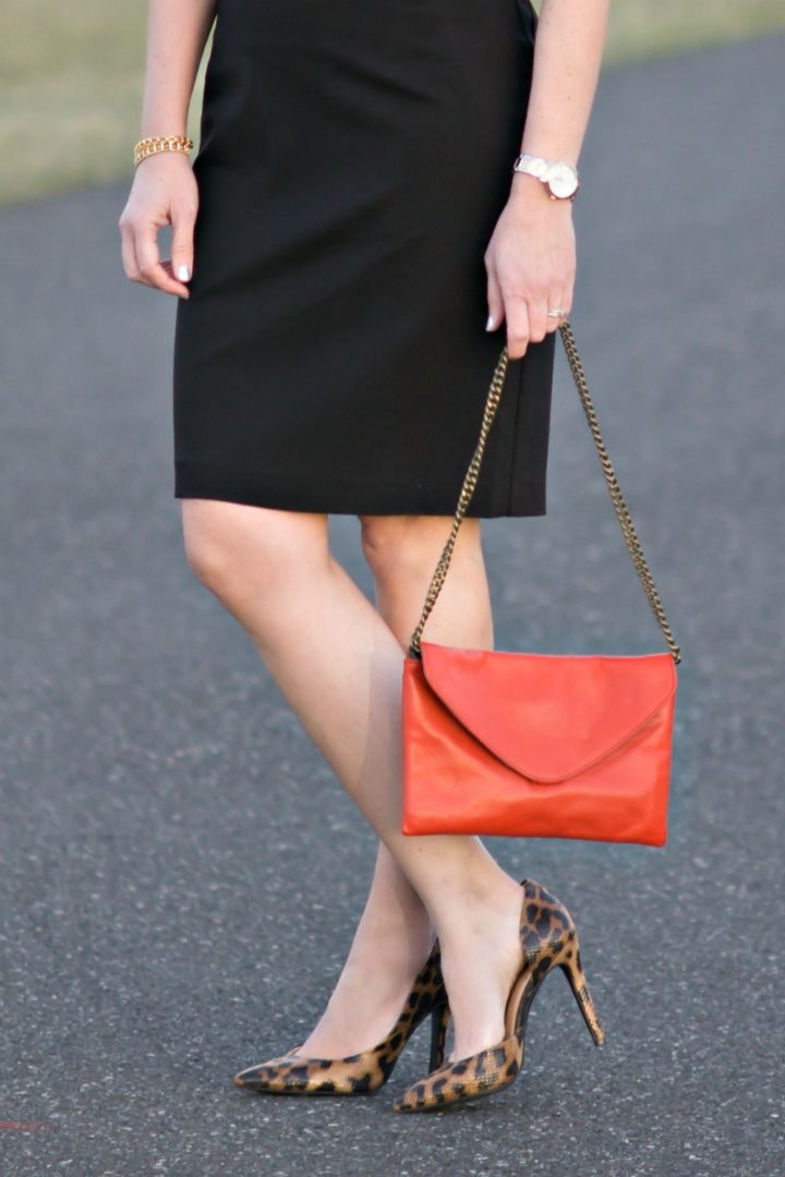 How to Wear Statement Shoes: LBD with Leopard Pumps