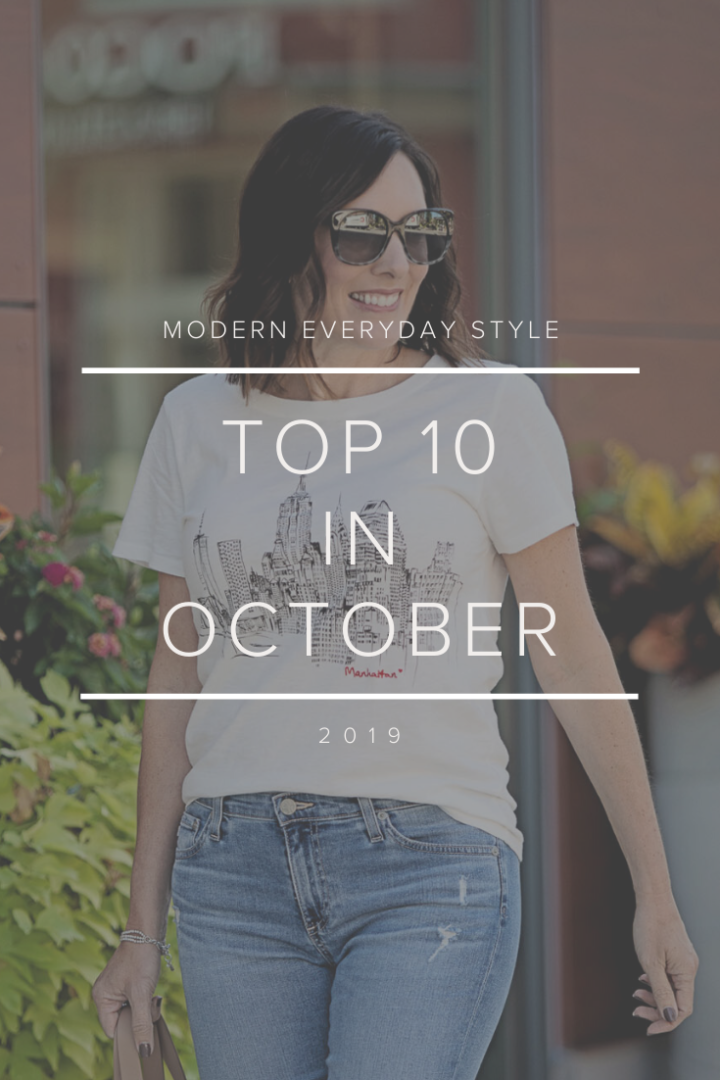 Top 10 in October: my ten most popular blog posts and retail products from the month of October!