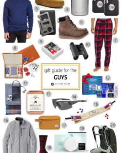 Holiday Gift Ideas for the Guys