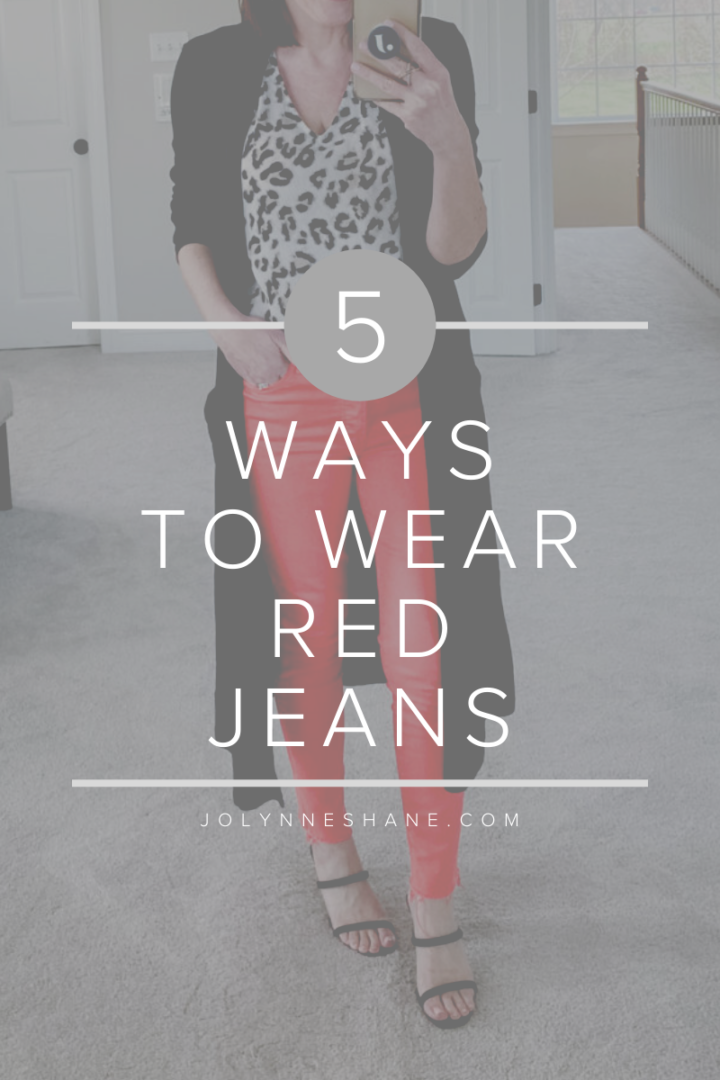 5 Ways to Wear Red Jeans