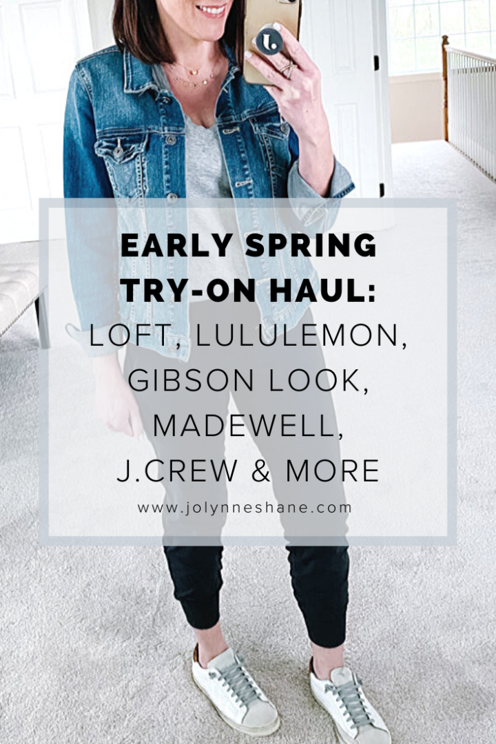 Trying on spring and summer styles from Try On Haul: Lululemon, LOFT, Gibson, Madewell, Amazon Fashion, Nordstrom, and J.Crew