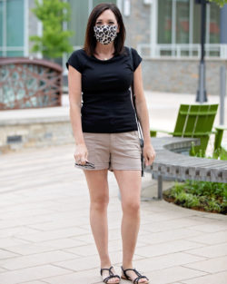 22 Days of Summer Fashion: Utility Shorts + Leopard Face Mask