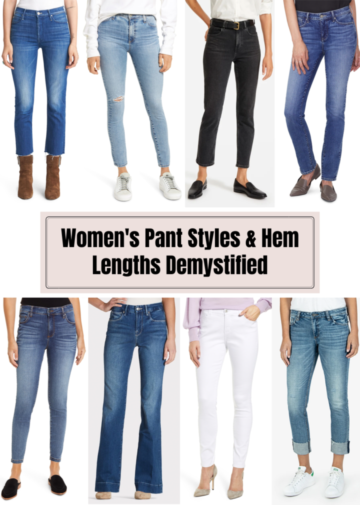 WOMEN'S PANT STYLES AND HEM LENGTHS DEMYSTIFIED