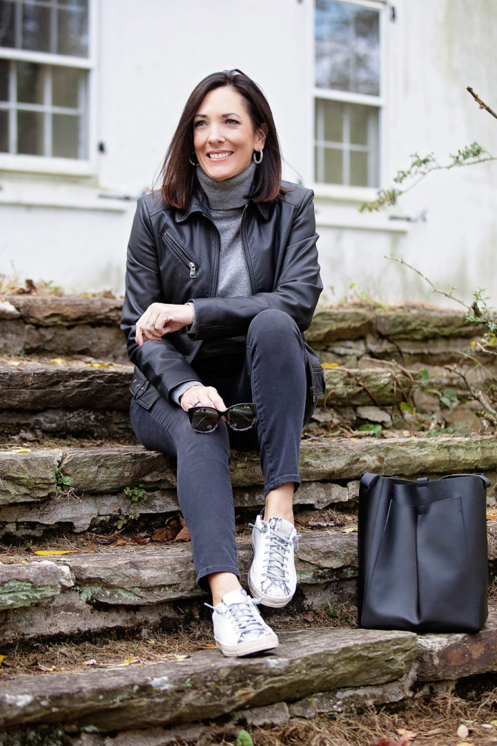 Luxe Meets Sporty: A Casual Monochromatic Outfit for Fall