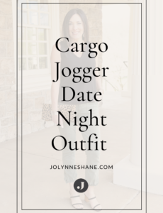 Cargo Jogger Date Night Outfit