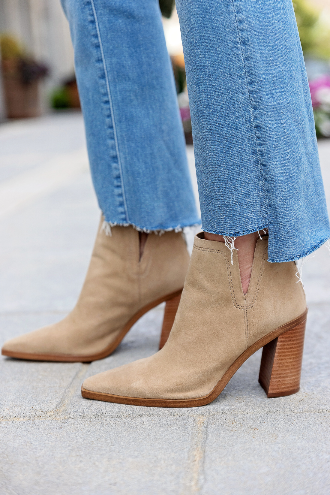 Mother Insider Crop Flare Jeans with Vince Camuto Welland Booties from Nordstrom Anniversary Sale 2021
